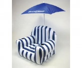 Bud light POS umbrella and inflatable chair