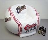 Coors baseball inflatable POS chair