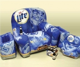 Miller lite inflatable POS furniture