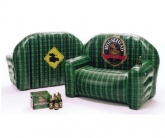Moosehead inflatable POS couch