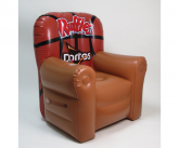 Ruffles inflatable POS chair