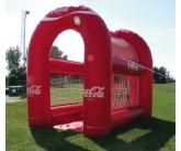 Coke football toss inflatable game