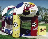 Inflatable soccer game