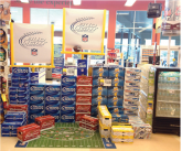 Bud light in-store display floor mat point of sale