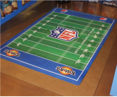 Custom POS Football Themed floor mat Floor mat