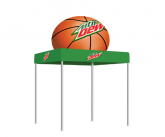Tent W/Inflatable Basketball Topper