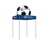 Tent W/Inflatable Soccer Ball Topper