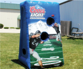 Coors light inflatable game point of sale