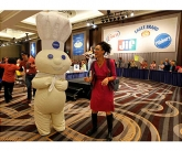 Our pillsbury doughboy costume with celebrity chef carla hall