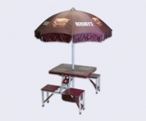 Folding Picnic Table With POS Umbrella