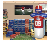 Easy-Inflate™ Football Dummy display enhancer