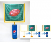 Plastic Goal Post with Polyester banner and inflatable Base