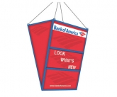 Promotional hanging sandwhich boards