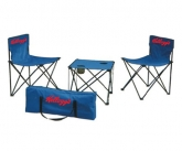 Foldable Camping Table & Chairs w/ Carrying Case