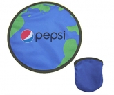 Promotional foldable frisbees w/ carrying bags
