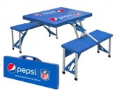 Pepsi foldable POS picnic table